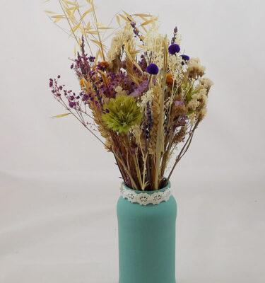 centro decorativo de flores preservadas
